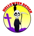 Cute cartoon grim reaper vector image vector image