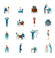 Depression Flat Icons Set vector image vector image