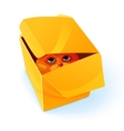 Eye Inside Box Composition vector image