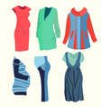 fashion clothing for stylish Pregnant woman vector image vector image