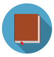 Flat design modern of bookicon with long shadow vector image vector image