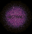 futuristic abstract background with violet mosaic vector image vector image