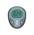 glucose meter icon flat style vector image vector image