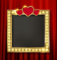gold frame in cinematic style vector image vector image