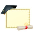 graduate certificate background vector image vector image
