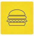 Hamburger icon Fast food sign vector image vector image