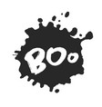 hand written boo with blot vector image vector image