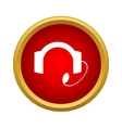 Headset icon in simple style vector image vector image