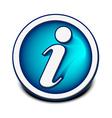 information web icon vector image vector image