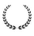 laurel wreath placed on white background vector image vector image