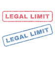legal limit textile stamps vector image vector image