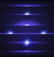 lens flare set collection of blue light effects vector image
