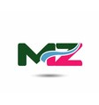 Letter m and z logo vector image