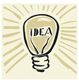 lightbulb concept imagination vector image vector image