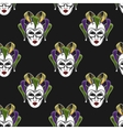 Mardi Gras mask seamless pattern vector image
