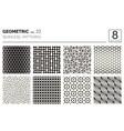 minimal geometric seamless patterns set vector image