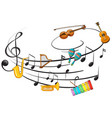 music instrument with note vector image vector image