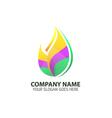 Natural Leaf Element Logo Icon vector image vector image