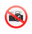 no photography allowed sign vector image vector image