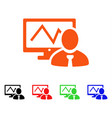 online trader icon vector image
