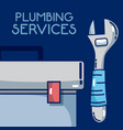 plumbling service concept vector image vector image