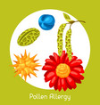 pollen allergy for medical vector image