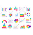 presentation business infographic isolated set vector image vector image