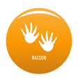 racoon step icon orange vector image