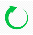 recycling green arrow circle icon bio garbage vector image vector image