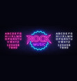 rock music neon rock music neon sign vector image vector image