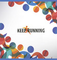 running people set stylized icons and vector image