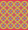 seamless pattern in oriental style geometrical vector image vector image