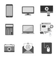set of icons and symbols in trendy flat style vector image vector image