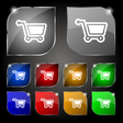 shopping cart icon sign Set of ten colorful vector image vector image