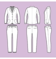 Simple outline drawing of a blazer and pants vector image vector image