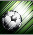 soccer ball on colorful background vector image vector image