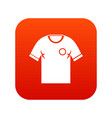 soccer shirt icon digital red vector image vector image