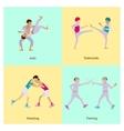 Sport people activities vector image