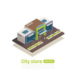 store mall shopping center isometric composition vector image vector image