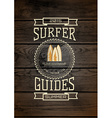 Surf badges logos and labels for any use vector image vector image