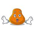surprised hard shell mascot cartoon vector image vector image