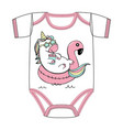 t-shirt of cute cartoon unicorn vector image