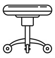 tattoo studio chair icon outline style vector image vector image
