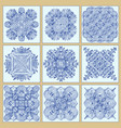 traditional portuguese tiles azulejos set vector image