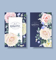 vintage floral banners with garden roses vector image vector image