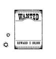 wanted poster for portrait american western vector image vector image