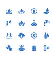 water related icon set in glyph style vector image