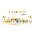 welcome to beautiful thailand travel vector image vector image