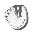 white baseball glove graphic vector image vector image