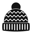 winter hat icon simple style vector image vector image